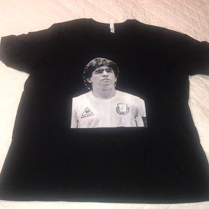 Diego Maradona 1986 Argentina Black XL T Shirt